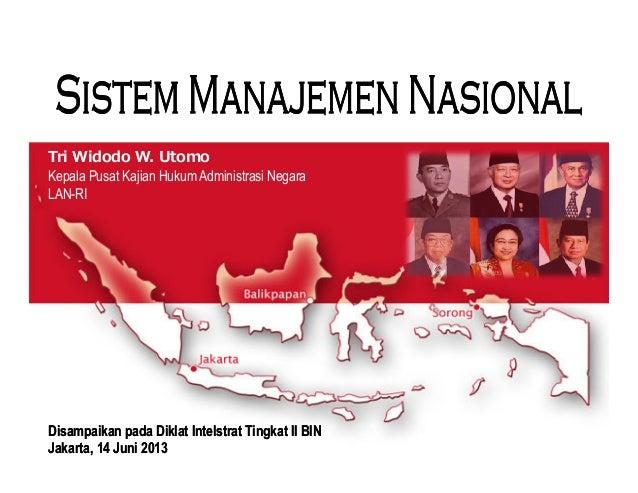 Tri Widodo W. UtomoKepala Pusat Kajian Hukum Administrasi NegaraLAN-RIDisampaikanDisampaikan padapada DiklatDiklat Intelst...