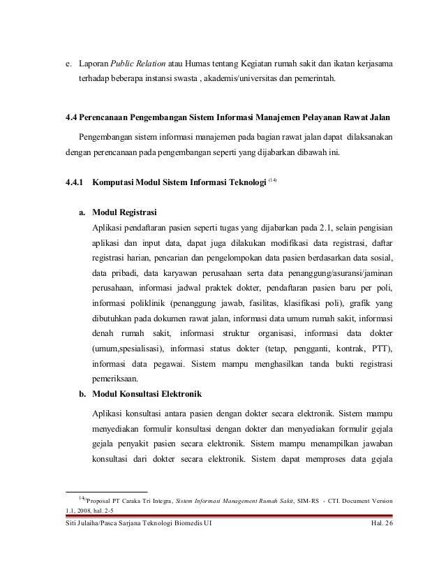 Sistem Manajemen Rawat Jalan Rumah Sakit Indonesia