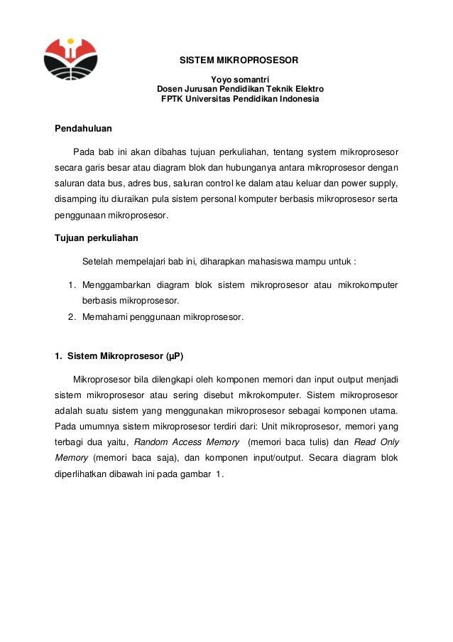 Sistem mikroprosesor 1 638gcb1430246748 sistem mikroprosesor yoyo somantri dosen jurusan pendidikan teknik elektro fptk universitas pendidikan indonesia pendahulu ccuart Gallery