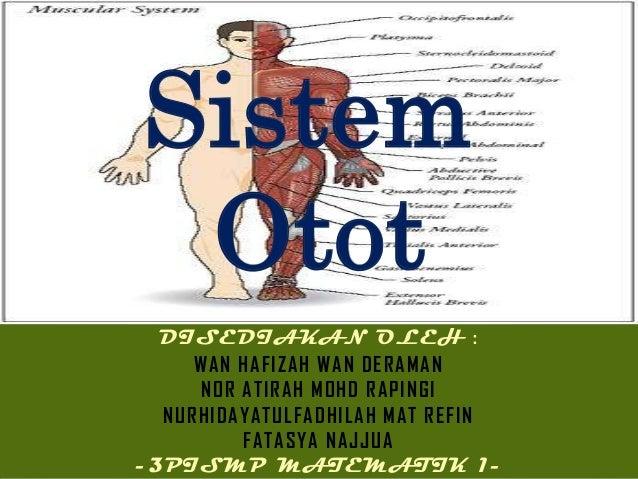 Sistem Otot  DISEDIAKAN OLEH :     WAN HAFIZAH WAN DERAMAN     NOR ATIRAH MOHD RAPINGI  NURHIDAYATULFADHILAH MAT REFIN    ...