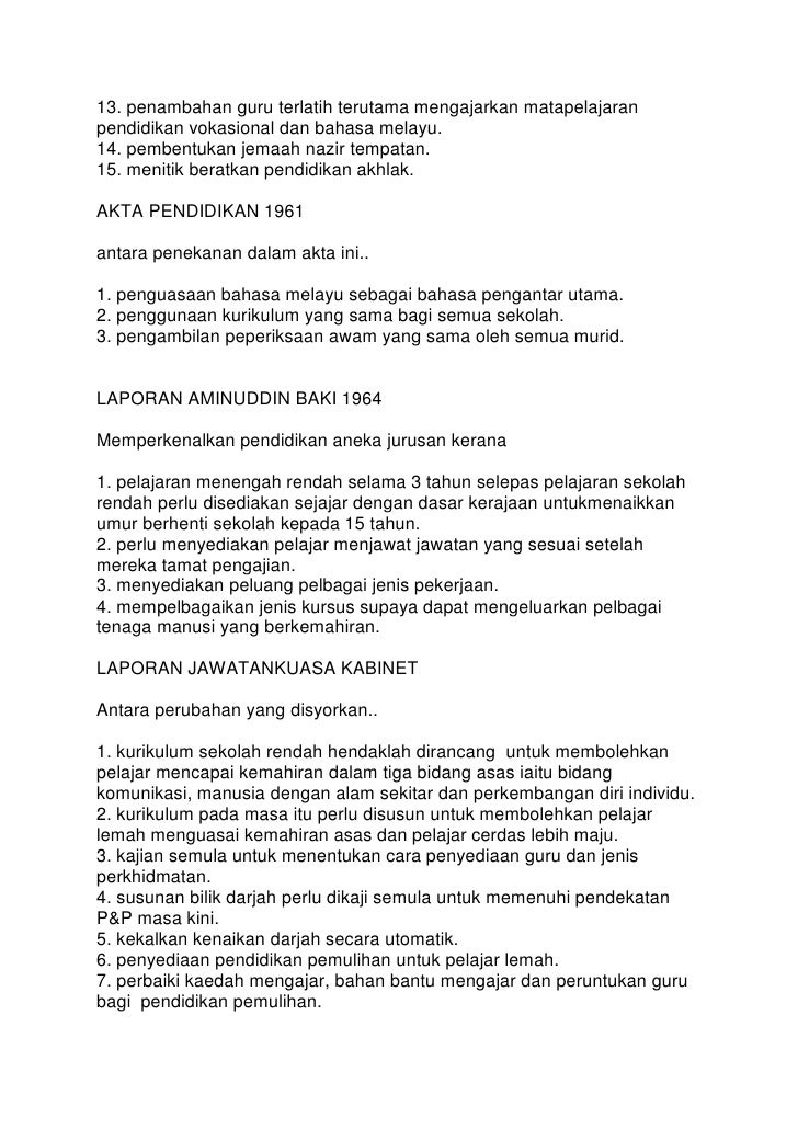 Sistem Pendidikan Malaysia Selepas Merdeka