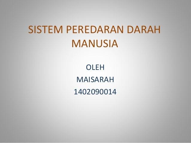 SISTEM PEREDARAN DARAH MANUSIA OLEH MAISARAH 1402090014