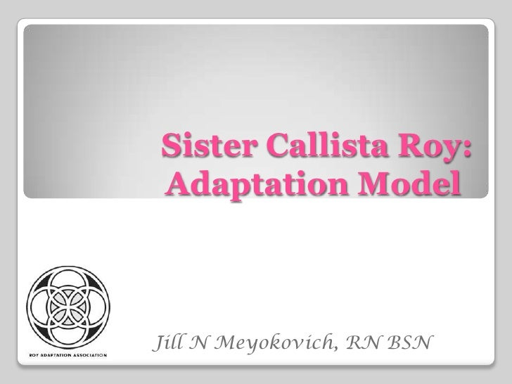 adaptation model of sister callista roy Callista roy's adaptation model, nursing goal, care, human adaptive system, health, environment, stimuli, coping mechanisms el grupo de estudio para el desarrollo.