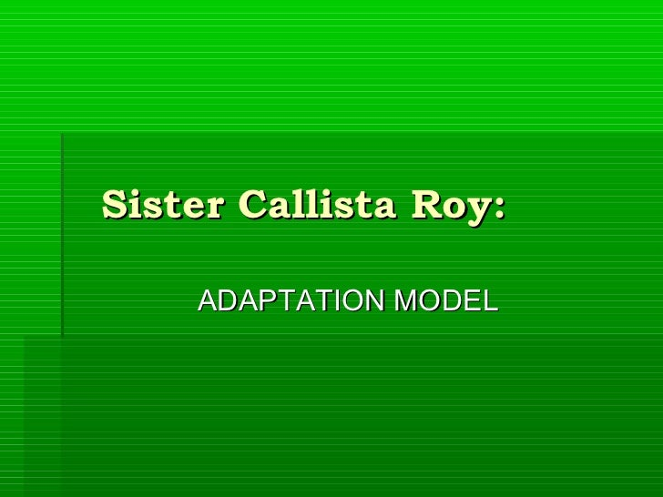 sister callista roys adaptation theory essay Nursing and roy adaptation model essay  this model was developed by sister callista roy as a framework for theory, practice, and research in nursing an important .