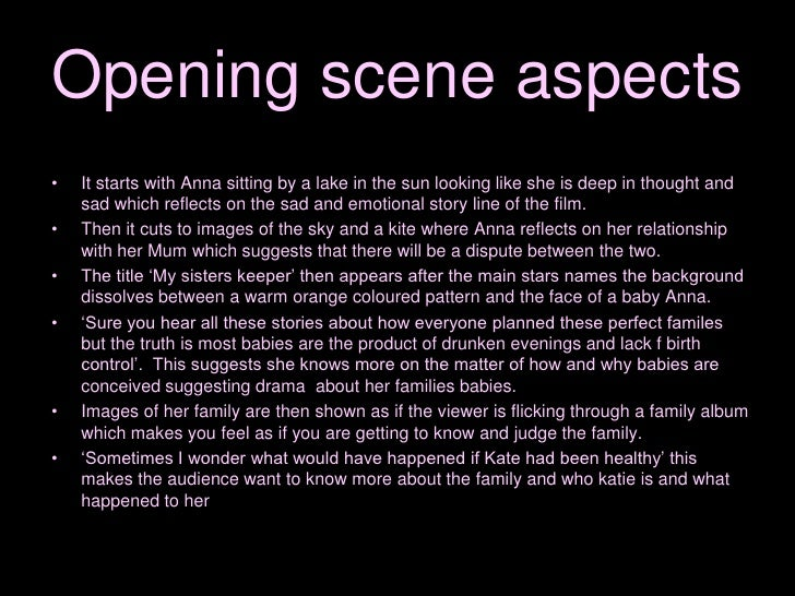 essay on my sisters keeper My sister's keeper is a film about a couple whose lives are centered around their daughter kate from a young age, kate was diagnosed.