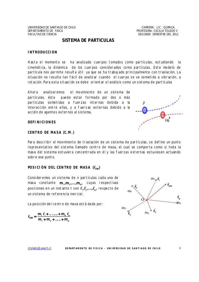 UNIVERSIDAD DE SANTIAGO DE CHILE                                            CARRERA: LIC . QUIMICA.DEPARTAMENTO DE FISICA ...