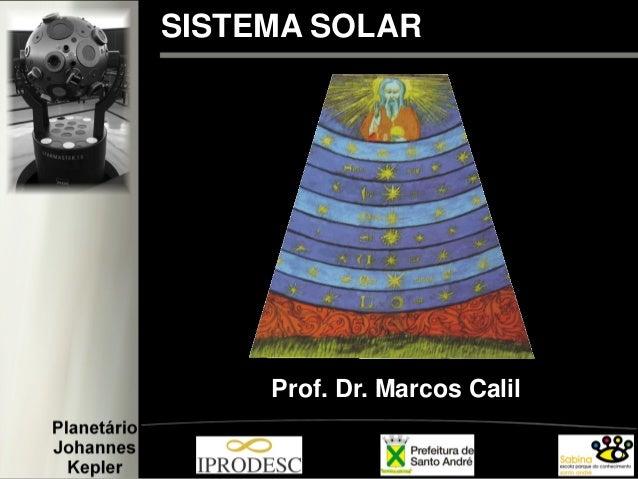 SISTEMA SOLAR Prof. Dr. Marcos Calil