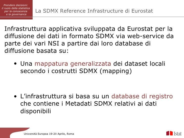 Prendere decisioni:          SISAIil ruolo della statistica   per la conoscenza        La SDMX Reference Infrastructure di...