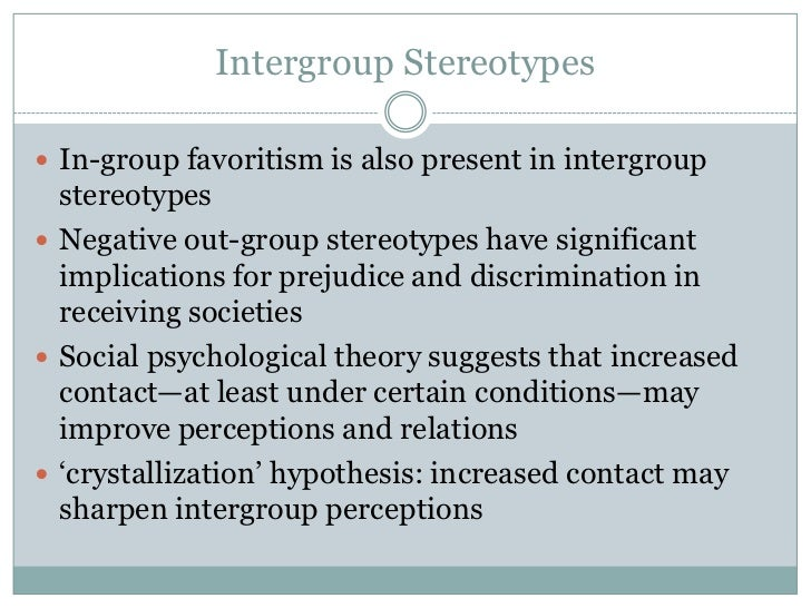 prejudice discrimination and stereotyping in the essay social psychology The authors examine overt and subtle forms of stereotyping and prejudice of what social psychology has to say targets of discrimination and prejudice.