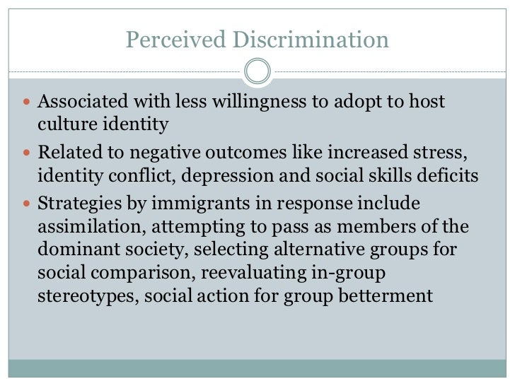 gender discrimination and social identity Notwithstanding the importance of documenting patterns of inequality in relation  to a particular social identity (eg race/ethnicity, gender, class),.