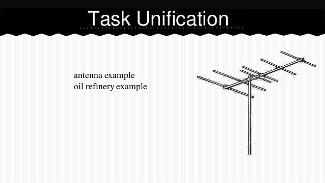 antenna example oil refinery example Task Unification