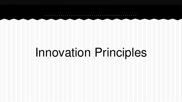 Innovation Principles