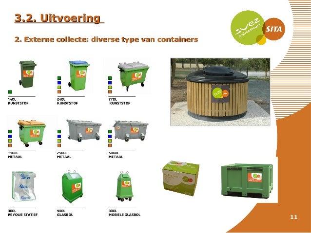 3.2. Uitvoering 2. Externe collecte: diverse type van containers  11