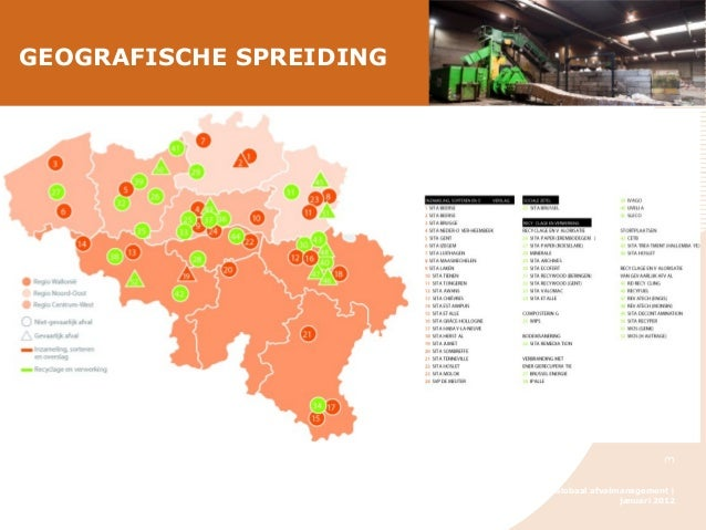 3  GEOGRAFISCHE SPREIDING  SITA - Globaal afvalmanagement | januari 2012