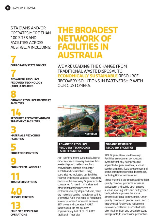 sita australia company information sheet and resource recovery mana