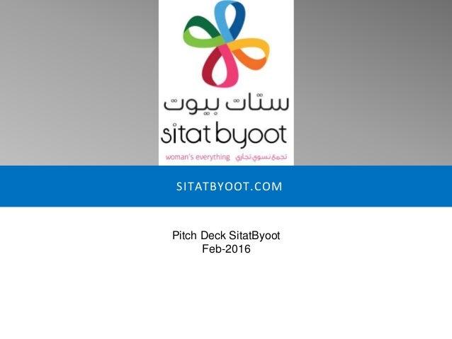 SITATBYOOT.COM Pitch Deck SitatByoot Feb-2016