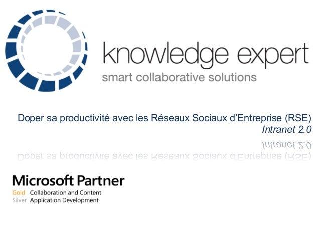 Doper sa productivité avec les Réseaux Sociaux d'Entreprise (RSE)Intranet 2.0