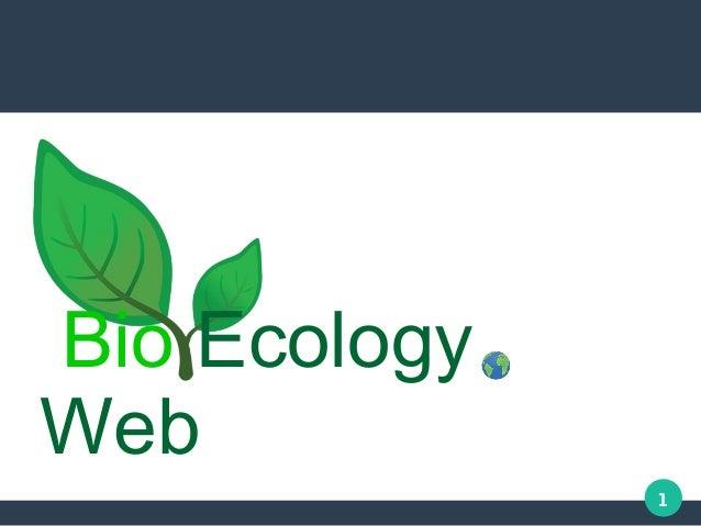 1 Bio Ecology Web