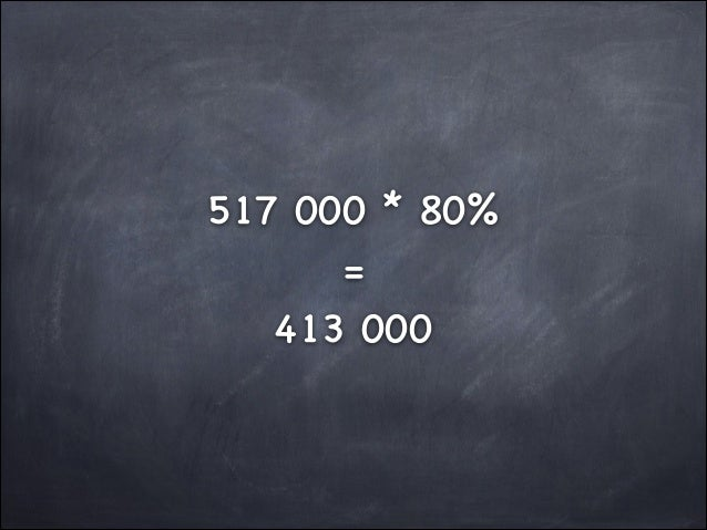 517 000 * 80%  =  413 000