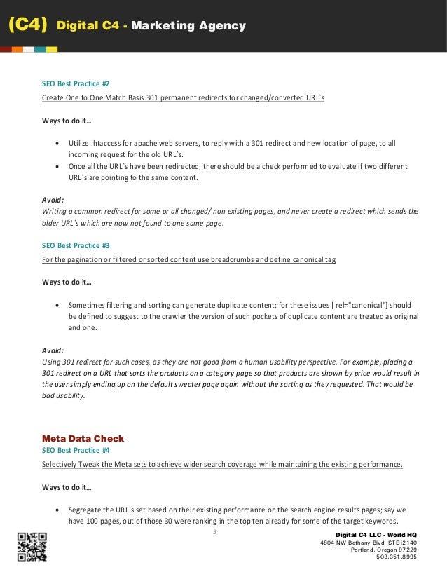 website migration seo best practices checklist