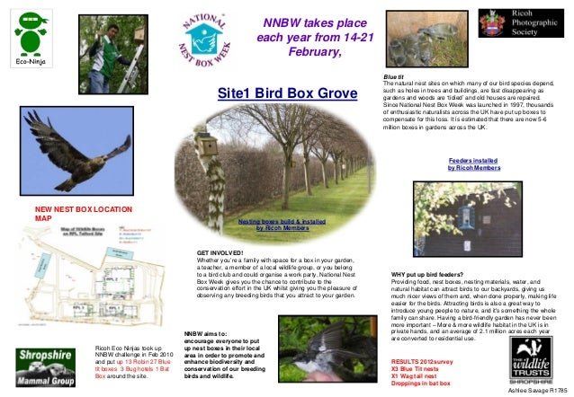 Site1 Bird Box Grove SWTSMG Blue tit The natural nest sites on which many of our bird species depend, such as holes in tre...