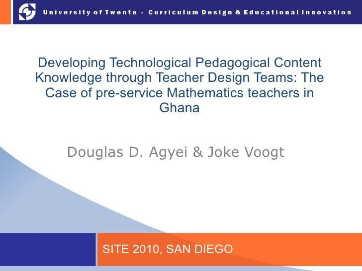 Developing Technological Pedagogical Content Knowledge through Teacher Design Teams: The Case of pre-service Mathematics t...