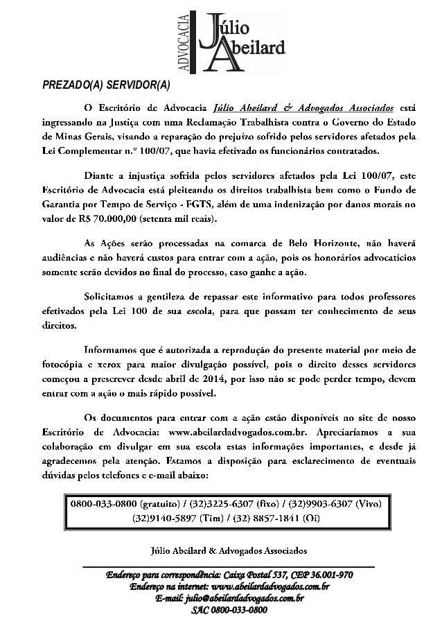 ________________________________________________________ Endereço para correspondência: Caixa Postal 537, CEP 36.001-970 E...