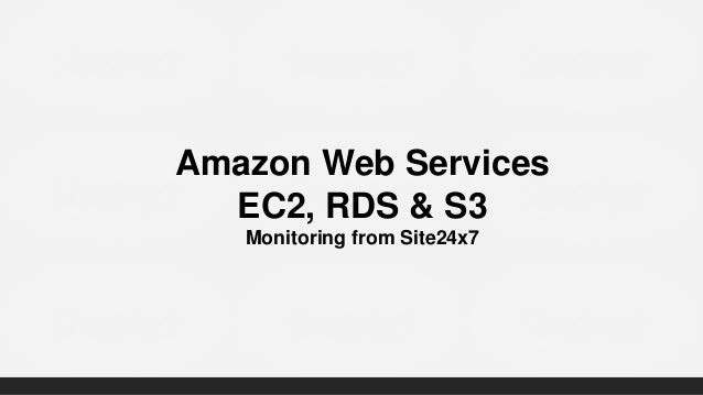 [Webinar] AWS Monitoring with Site24x7