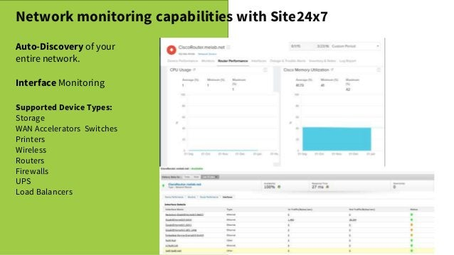 Savvy Tech Users Network monitoring capabilities with Site24x7 Auto-Discovery of your entire network. Interface Monitoring...