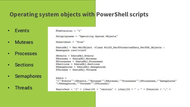 Savvy Tech Users Operating system objects with PowerShell scripts • Events • Mutexes • Processes • Sections • Semaphores •...