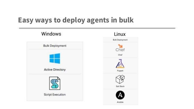 Easy ways to deploy agents in bulk Windows Linux