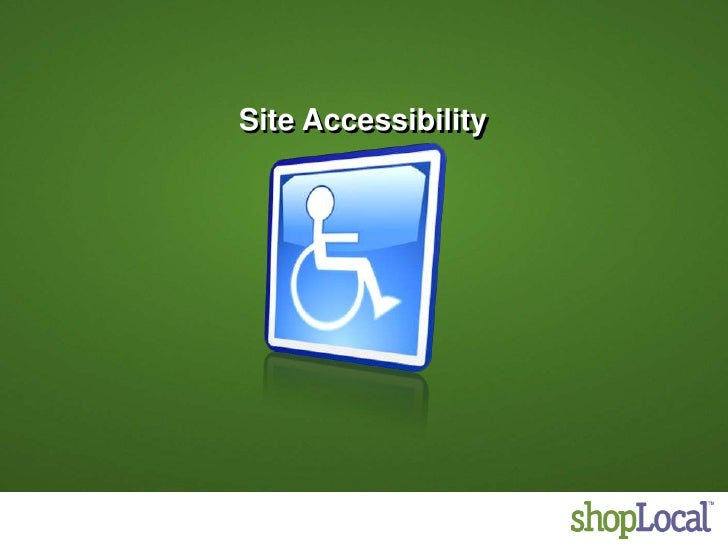 Site Accessibility