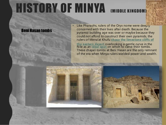 • Like Pharaohs, rulers of the Oryx nome were deeply concerned with their lives after death. Because the pyramid building ...