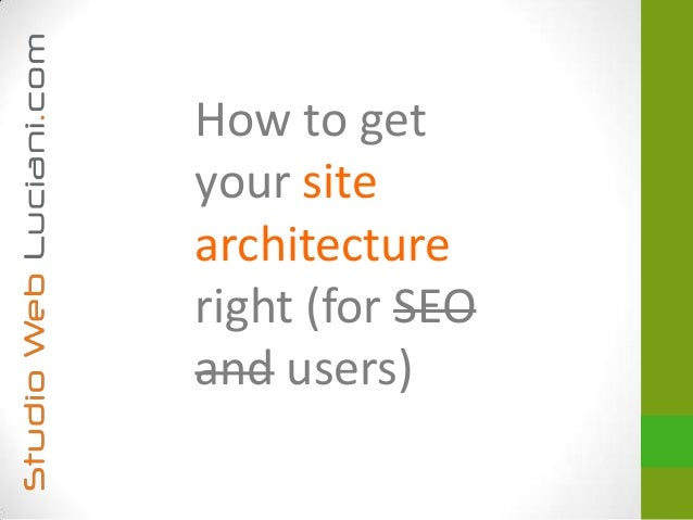 How to getyour sitearchitectureright (for SEOand users)