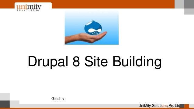 Drupal 8 Site Building Girish.v UniMity Solutions Pvt Ltd