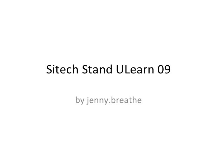 Sitech Stand ULearn 09 by jenny.breathe