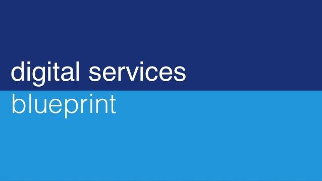 digital services blueprint