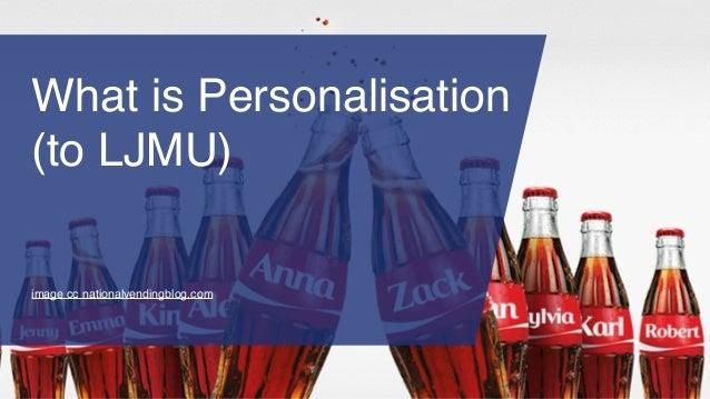 What is Personalisation (to LJMU) image cc nationalvendingblog.com