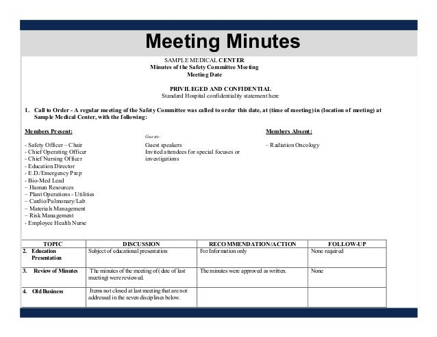 health and safety committee meeting agenda template - sitefm managing an effective safety committee