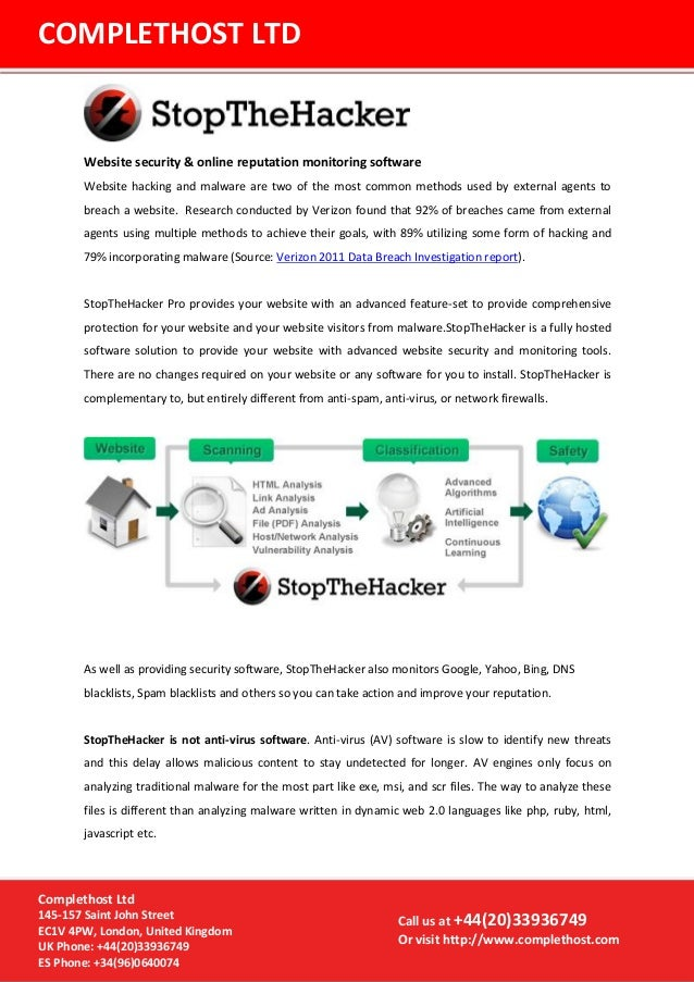 Website security & online reputation monitoring softwareWebsite hacking and malware are two of the most common methods use...