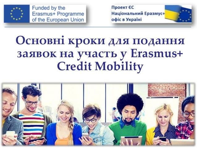 Основні кроки для подання заявок на участь у Erasmus+ Credit Mobility