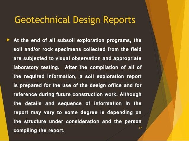 soil exploration report