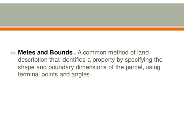 Site location map reading and lot plotting for Metes and bounds