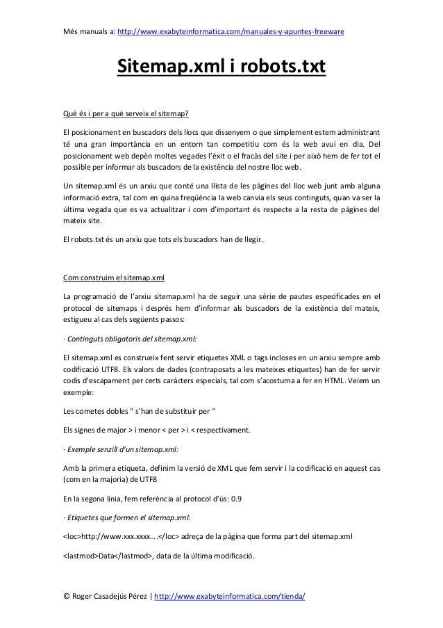 Més manuals a: http://www.exabyteinformatica.com/manuales-y-apuntes-freeware© Roger Casadejús Pérez   http://www.exabytein...