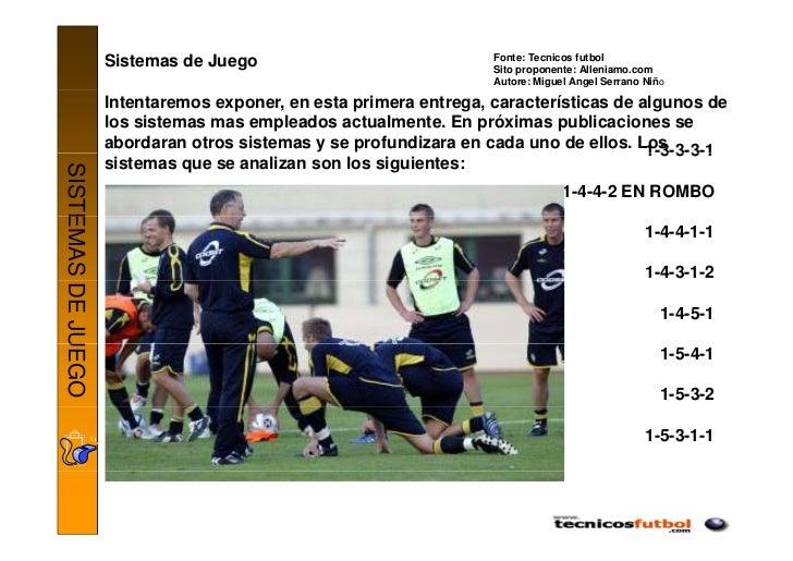 Fonte: Tecnicos futbol                    Sistemas de Juego                              Sito proponente: Alleniamo.com   ...
