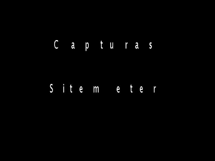 Capturas Sitemeter