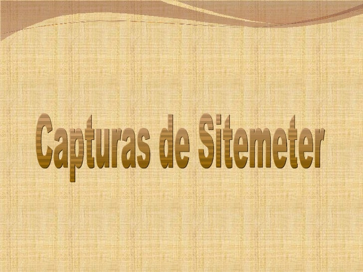 Capturas de Sitemeter