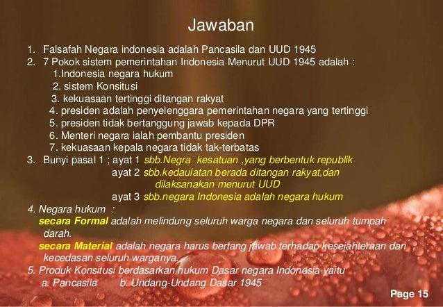 Sitem pemerintahan indonesia
