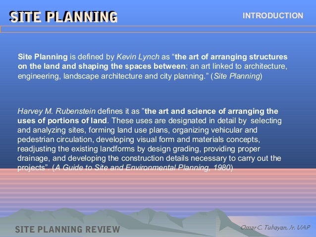 Site Planning Kevin Lynch And Pdf