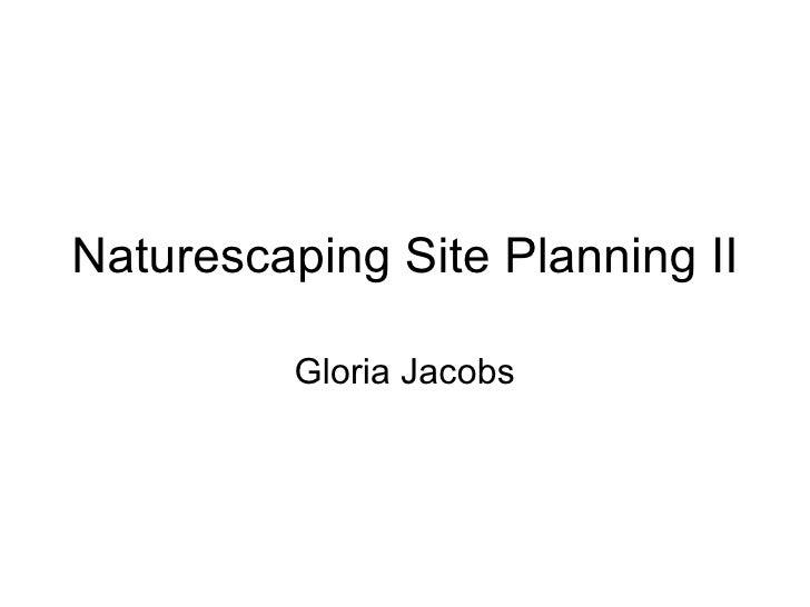 Siteplanning 2 presentation